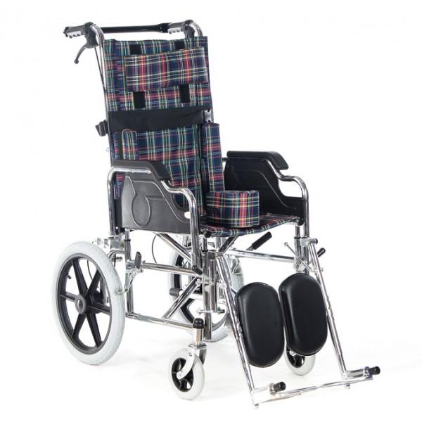 FS212BCEG Chromed Steel Frame Wheelchair