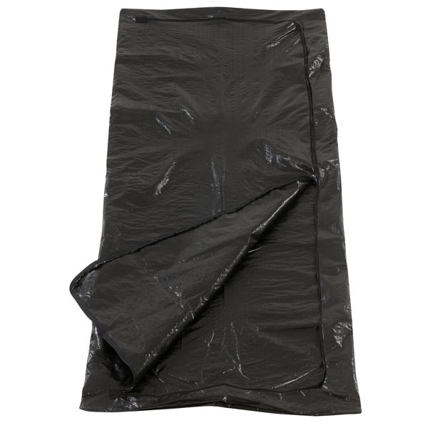 Disposable body bag with tape