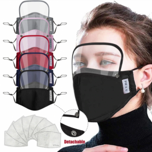 Adults Washable Mask With Filter & Detachable Eye Shield